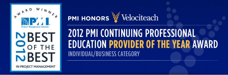 2012 PMI Continuing Professional Education Provider of the year award